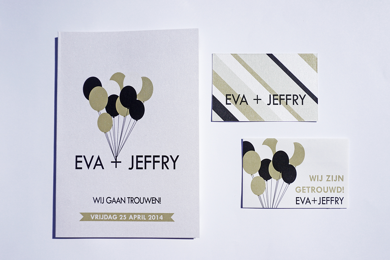 Trouwkaart Eva & Jeffry