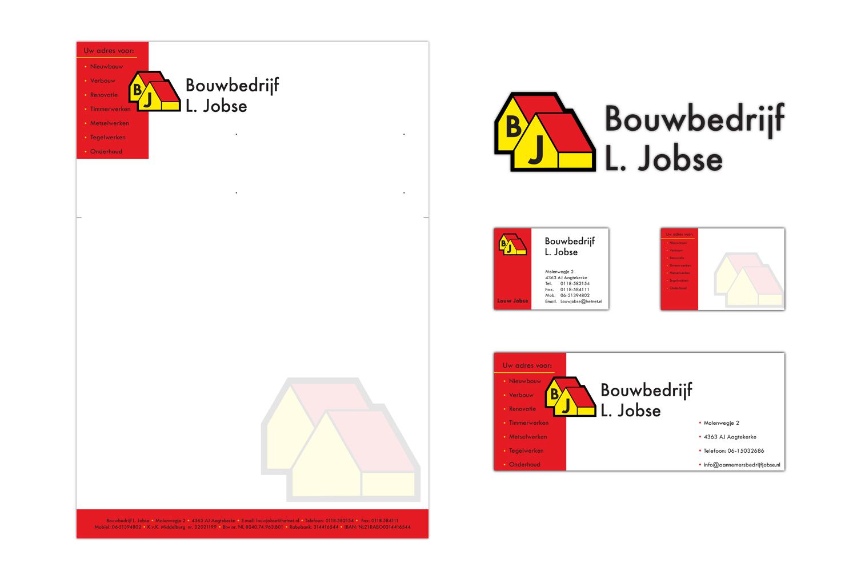 Huisstijl & Logo update Bouwbedrijf L. Jobse