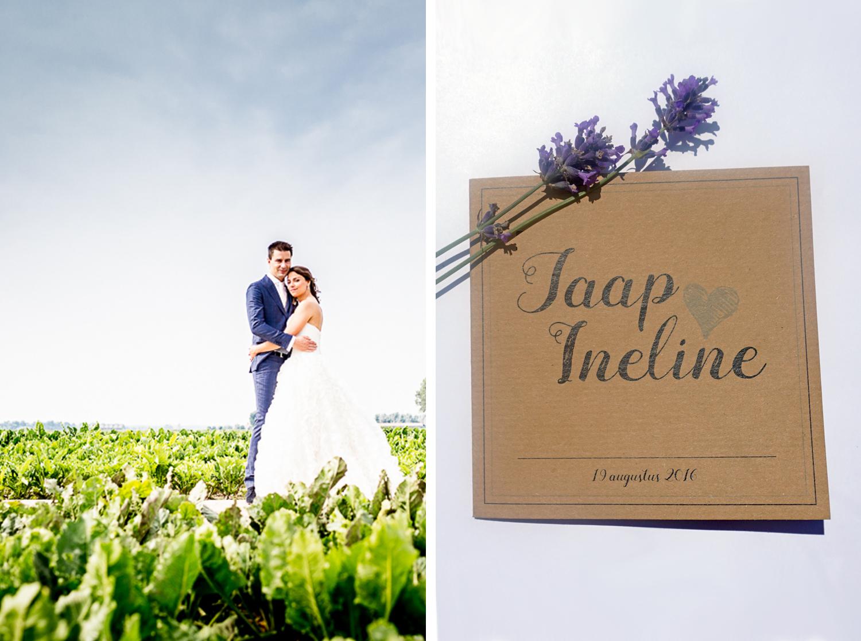Trouwkaart Jaap & Ineline